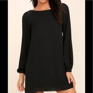 901f9d650361 Lulu's Dresses | Lulus Black Long Sleeve Tunic Dress Sz M | Poshmark